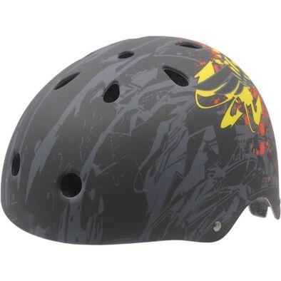 Kidzamo Xcool Urbantech Black Helmet Combo S