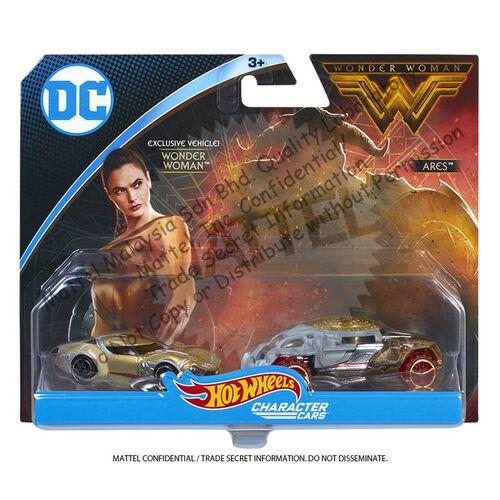 Hot Wheels Wonder Woman Character Car 2 Pack