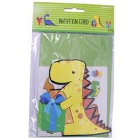 Invitation Card 6 Pieces (Dinosaurs)