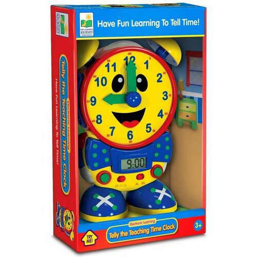 BRU Infant & Preschool Telly The Teaching Time Clock- Primary
