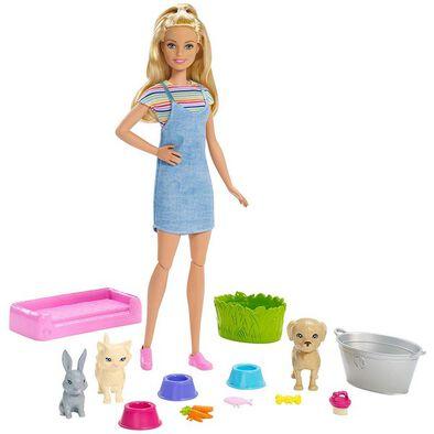 Barbie Play & Wash Pets Playset