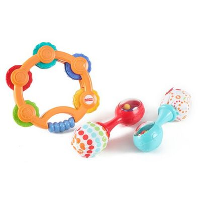 Fisher-Price Newborn Tambourine & Maracas Gift Set