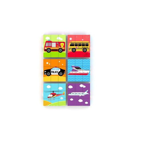 J'adore Vehicle Mini Blocks Puzzle - Assorted