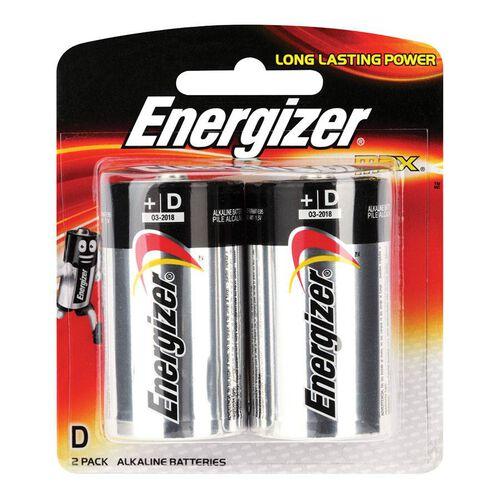 Energizer Max Batteries Size D - 2 Pack