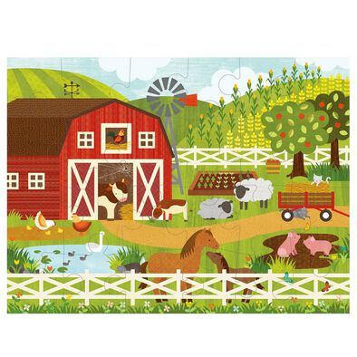 Petit Collage Floor Puzzle-On The Farm