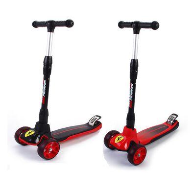 Mesuca Ferrari Children Folding Scooter Twist Kickboard Flashing Wheel - Assorted