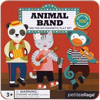 Petit Collage Mts Animal Band On-The-Go Magnetic Play Set