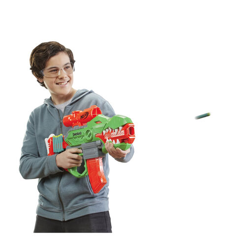 NERF Dino Squad Rex Rampage Motorized Dart Blaster