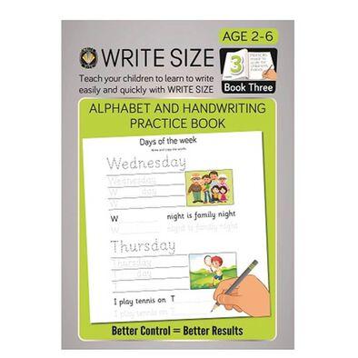 Write Size Writing Pad Book 3