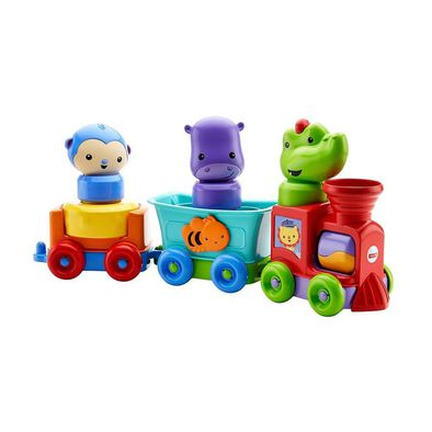 Fisher-Price Laugh & Learn Silly Safari Rattle and Roll Animal Train