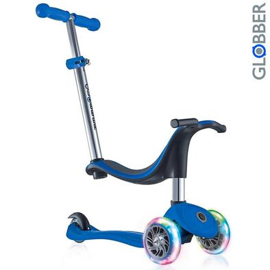 Globber Go•Up Sporty Lights Navy Blue Scooter