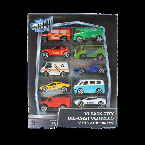 Speed City 10 Pack City Die-cast vehicles