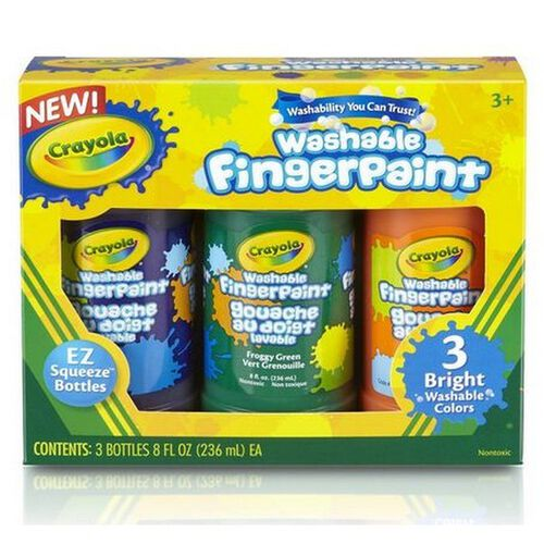 Crayola 3Ct Washable Finger Paint Bright