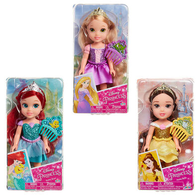 "Disney 6"" Princess Petite with Glitter - Assorted"