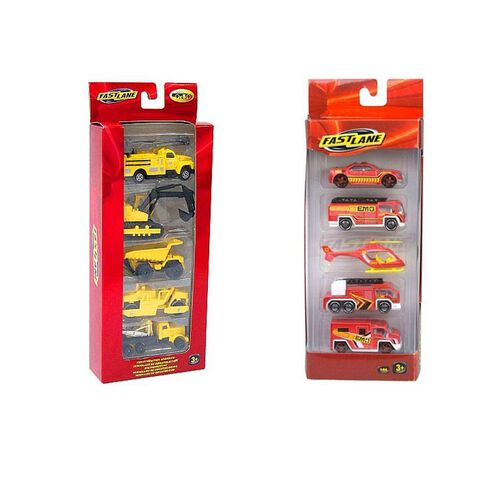 Fast Lane 5Pack Emergency Vehicles - Assorted