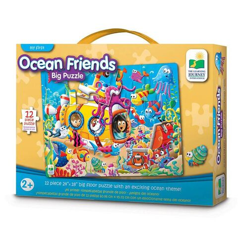 The Learning Journey Mr First Big Floor Puzzle Ocean Friends