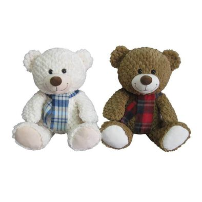 15.5 Inch Bear With Scarf - Assorted