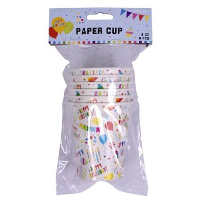 Paper Cups 9oz 6 Pieces