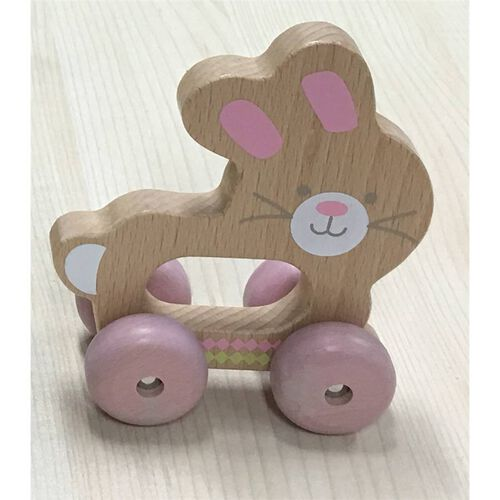 Universe Of Imagination Wooden Rolling Toy Bunny