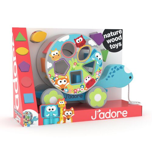 J'adore Pull Along Turtle