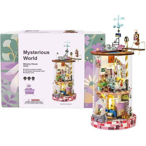 Robotime DIY Glass Miniature Dollhouse Bloomy House