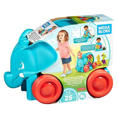Mega Bloks First Builders Elephant Parade Building Kit