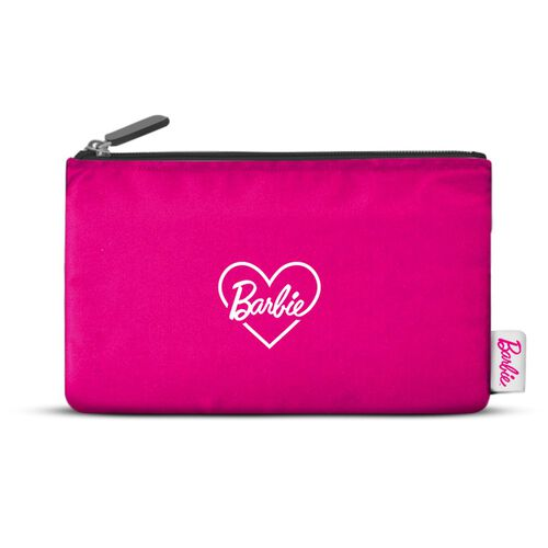 Barbie Canvas Pouch with Zip and Iron on Sticker