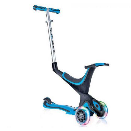 Globber Evo 5 In 1 Lights Sky Blue Scooter