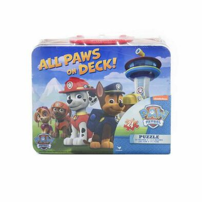 Cardinal Paw Patrol Puzzle In Tin With Handle