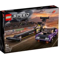 LEGO Speed Champions Mopar Dodge//SRT Top Fuel Dragster and 1970 Dodge Challenger T/A 76904