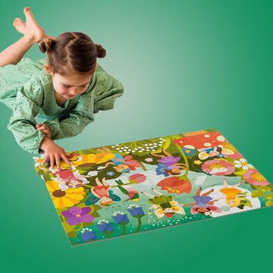 Petit Collage Floor Puzzle Fairy Garden