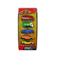 Fast Lane 5 Pack Diecast Vehicles - Assorted
