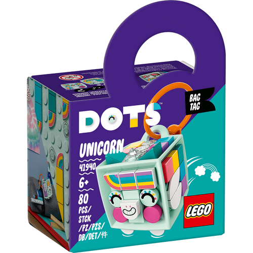 LEGO Dots Bag Tag Unicorn 41940