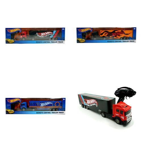 Hot Wheels Remote Control Trailer Truck - Assorted