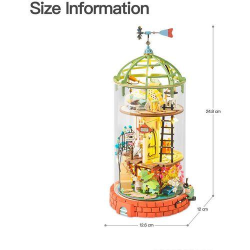 Robotime DIY Glass Miniature Dollhouse Domed Loft