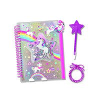 Hot Focus Journal With Pouch Unicorn