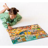 Petit Collage Floor Puzzle Construction Site