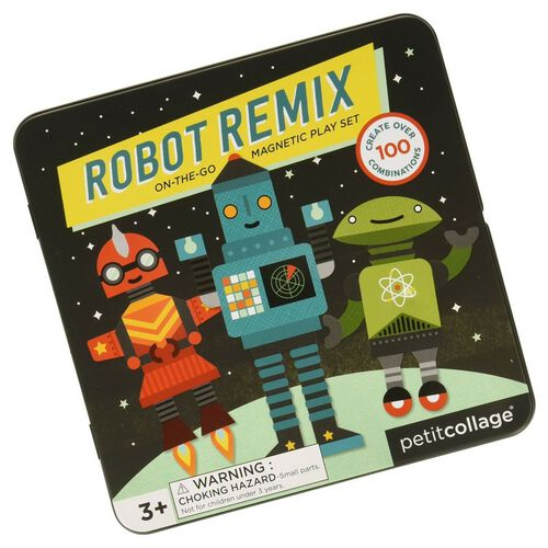 Petit Collage Mts Robot Remix On-The-Go Magnetic Play Set