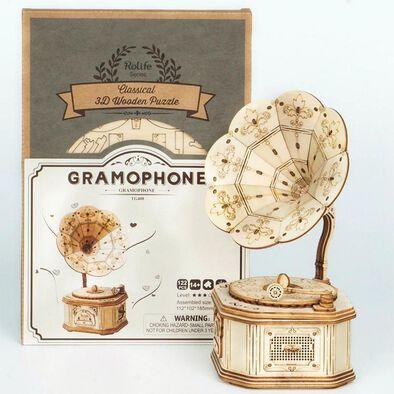 Robotime DIY Gramophone