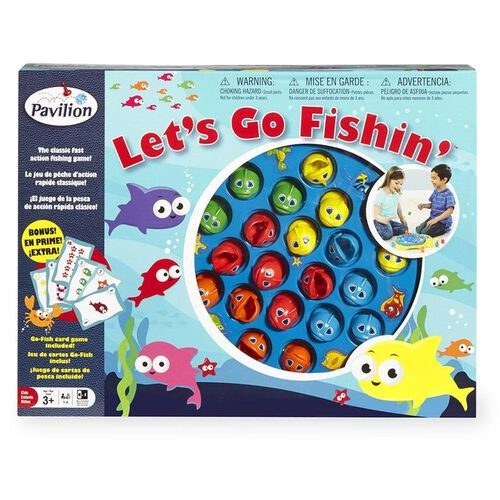 Pavilion Let's Go Fishin' And Go Fish Card Game Set