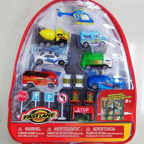 Fast Lane Diecast Cars With Back Pack