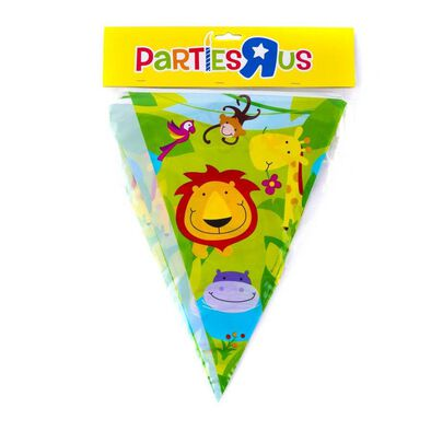 Jungle Party Flag Banner (12 Inch)
