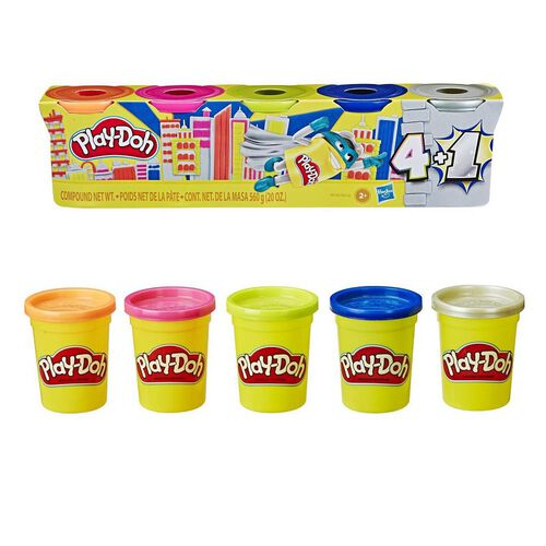 Hasbro Play-Doh Super Pack Of 5 Cans - Assorted