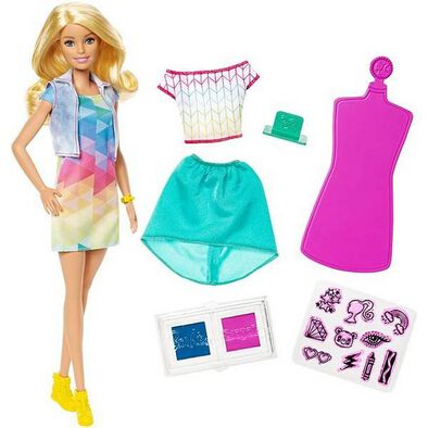 Barbie Crayola Color Stamp Fashion Doll