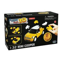 Puzzle Fun 3D - 1/32 Mini Cooper (Yellow)