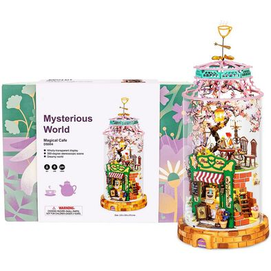 Robotime DIY Glass Miniature Dollhouse Magical Cafe