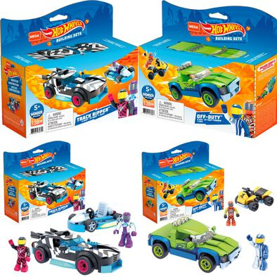 Mega Construx Hot Wheels Racer & Kart Off Duty Assorted