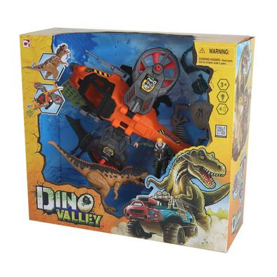 Dino Valley Steel Hawk Rescue Playset