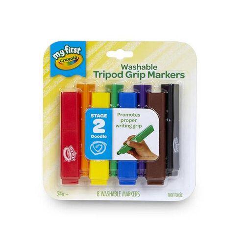 Crayola 8 Colours Washable Tripod Markers