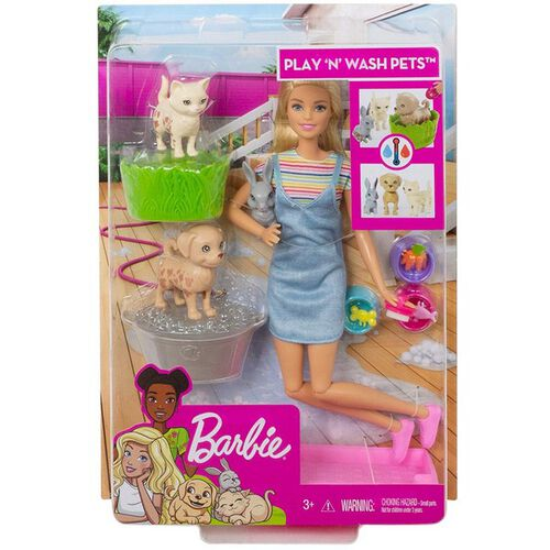 Barbie Play & Wash Pets Playset